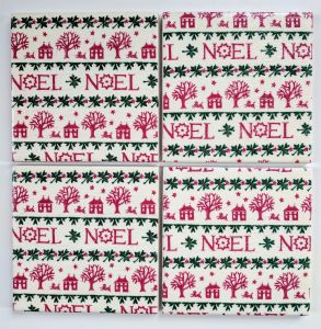 4 Ceramic Coasters in Emma Bridgewater Christmas Noel